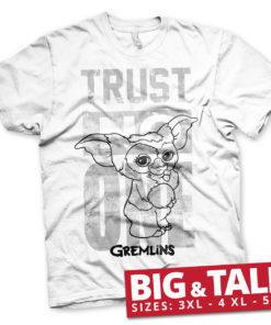 T-shirt Gremlins - Trust No One grandes Tailles de couleur Blanc