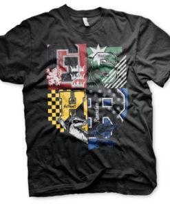 T-Shirt Harry Potter Dorm Crest de couleur Noir
