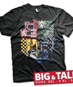 T-shirt Harry Potter Dorm Crest grandes Tailles de couleur Noir