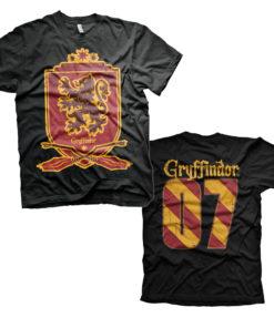 T-Shirt Harry Potter - Gryffindor 07 de couleur Noir