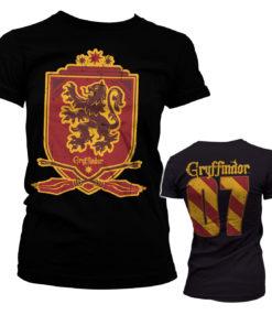 T-Shirt Harry Potter - Gryffindor 07 pour Femme de couleur Noir