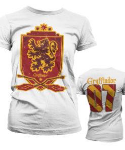 T-Shirt Harry Potter - Gryffindor 07 pour Femme de couleur Blanc