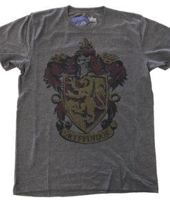 T Shirt Harry Potter Gryffindor Dyed de couleur Gris Sombre
