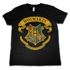 T-Shirt Harry Potter - Hogwarts Crest  pour enfant de couleur Noir