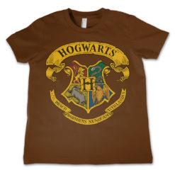T-Shirt Harry Potter - Hogwarts Crest  pour enfant de couleur Marron