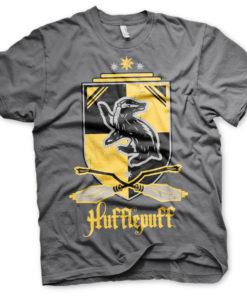 T-Shirt Harry Potter - Hufflepuff de couleur Gris Foncé