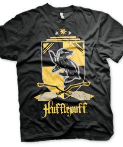 T-Shirt Harry Potter - Hufflepuff de couleur Noir