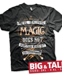 T-shirt Harry Potter Magic grandes Tailles de couleur Noir