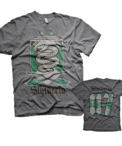 T-Shirt Harry Potter - Slytherin 07 de couleur Gris Foncé