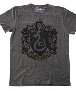 T Shirt Harry Potter - Slytherin Dyed de couleur Gris Sombre