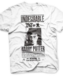 T-Shirt Harry Potter Wanted Poster de couleur Blanc
