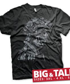 T-shirt Harry Potter Wordings and Symbols Big & Tall  grandes Tailles de couleur Noir