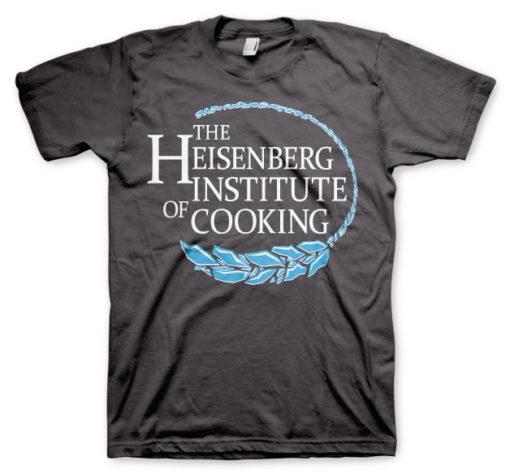 T-shirt Heisenberg Institute Of Cooking grandes Tailles de couleur Gris Foncé