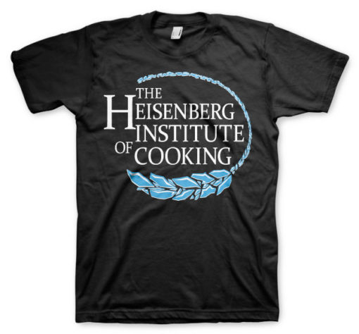 T-shirt Heisenberg Institute Of Cooking grandes Tailles de couleur Noir