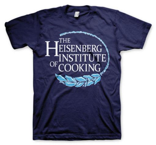 T-shirt Heisenberg Institute Of Cooking grandes Tailles de couleur Bleu Nuit