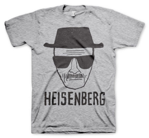 T-shirt Heisenberg Sketch grandes Tailles de couleur Gris Chiné