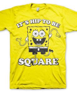 T-shirt Hip To Be Square grandes Tailles de couleur Jaune