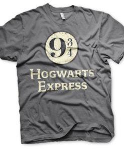 T-Shirt Hogwarts Express Platform 9-3/4 de couleur Gris Foncé