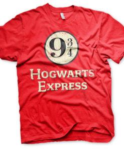 T-Shirt Hogwarts Express Platform 9-3/4 de couleur Rouge