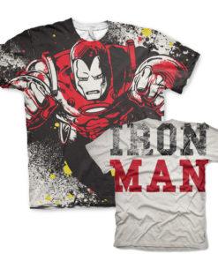 T-Shirt imprimé Iron Man Allover de couleur