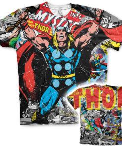 T-Shirt imprimé Thor Comics Allover de couleur