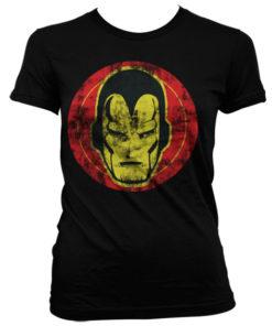 T-Shirt Iron Man Icon pour Femme de couleur Noir