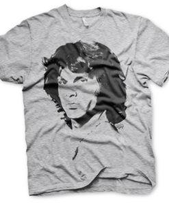 T-Shirt Jim Morrison Portrait de couleur Gris Chiné