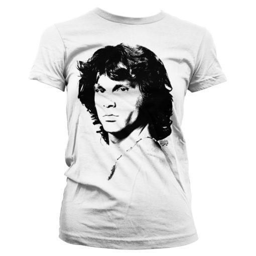 T-Shirt Jim Morrison Portrait pour Femme de couleur Blanc