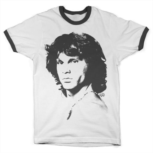 T Shirt Jim Morrison Portrait Ringer de couleur