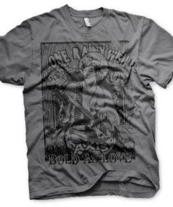 T-Shirt Jimi Hendrix - Bold As Love de couleur Gris Foncé