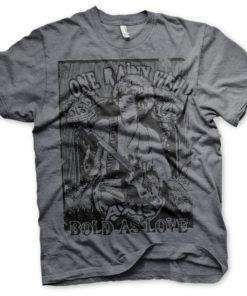 T-Shirt Jimi Hendrix - Bold As Love de couleur Gris Sombre