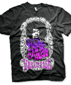 T-Shirt Jimi Hendrix - Purple Haze World Tour de couleur Noir