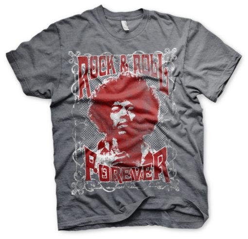 T-Shirt Jimi Hendrix - Rock 'n Roll Forever de couleur Gris Sombre