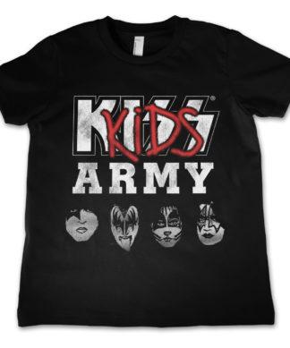 T-Shirt KISS  Army   pour enfant de couleur Noir