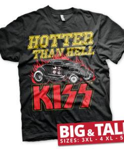 T-shirt KISS - Hotter Than Hell grandes Tailles de couleur Noir