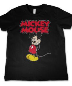 T-Shirt Little Mickey Mouse pour enfant de couleur Noir