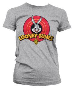 T-Shirt Looney Tunes Logo pour Femme de couleur Gris Chiné