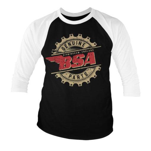 T-shirt manches 3/4 B.S.A. Genuine Parts de couleur Noir