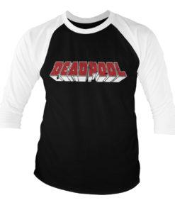 T-shirt manches 3/4 Deadpool Logo de couleur