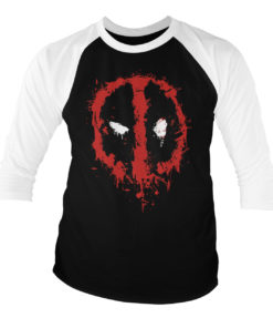 T-shirt manches 3/4 Deadpool Splash Icon de couleur