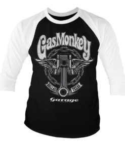 T-shirt manches 3/4 Gas Monkey Garage Big Piston de couleur