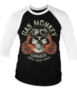 T-shirt manches 3/4 Gas Monkey Garage Skull de couleur