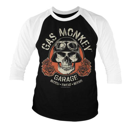 T-shirt manches 3/4 Gas Monkey Garage Skull de couleur