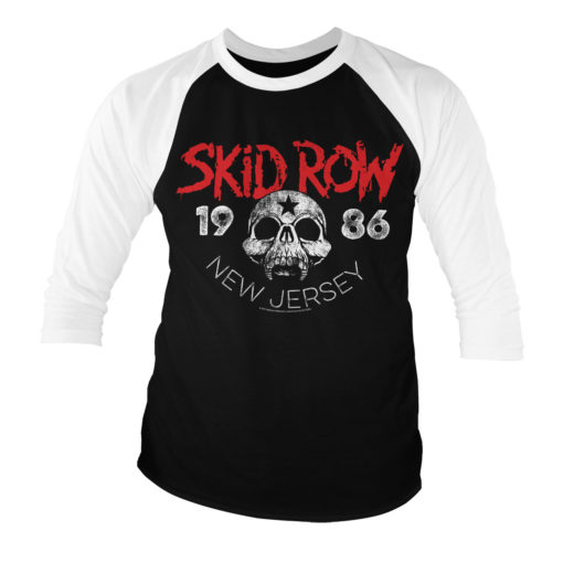 T-shirt manches 3/4 Skid Row - New Jersey '86 de couleur