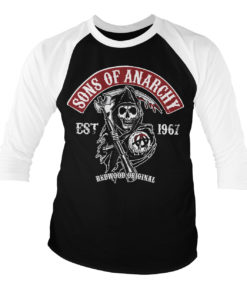 T-shirt manches 3/4 SOA - Redwood Original Red Patch de couleur