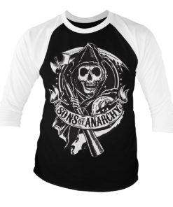 T-shirt manches 3/4 SOA - Scroll Reaper de couleur