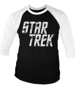 T-shirt manches 3/4 Star Trek Logo de couleur