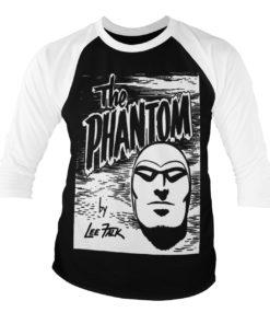 T-shirt manches 3/4 The Phantom Sketch de couleur Blanc/Noir