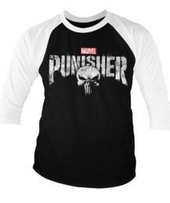 T-shirt manches 3/4 The Punisher Logo de couleur