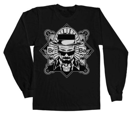 T-shirt manches longues Br-Ba Heisenberg LS de couleur Noir